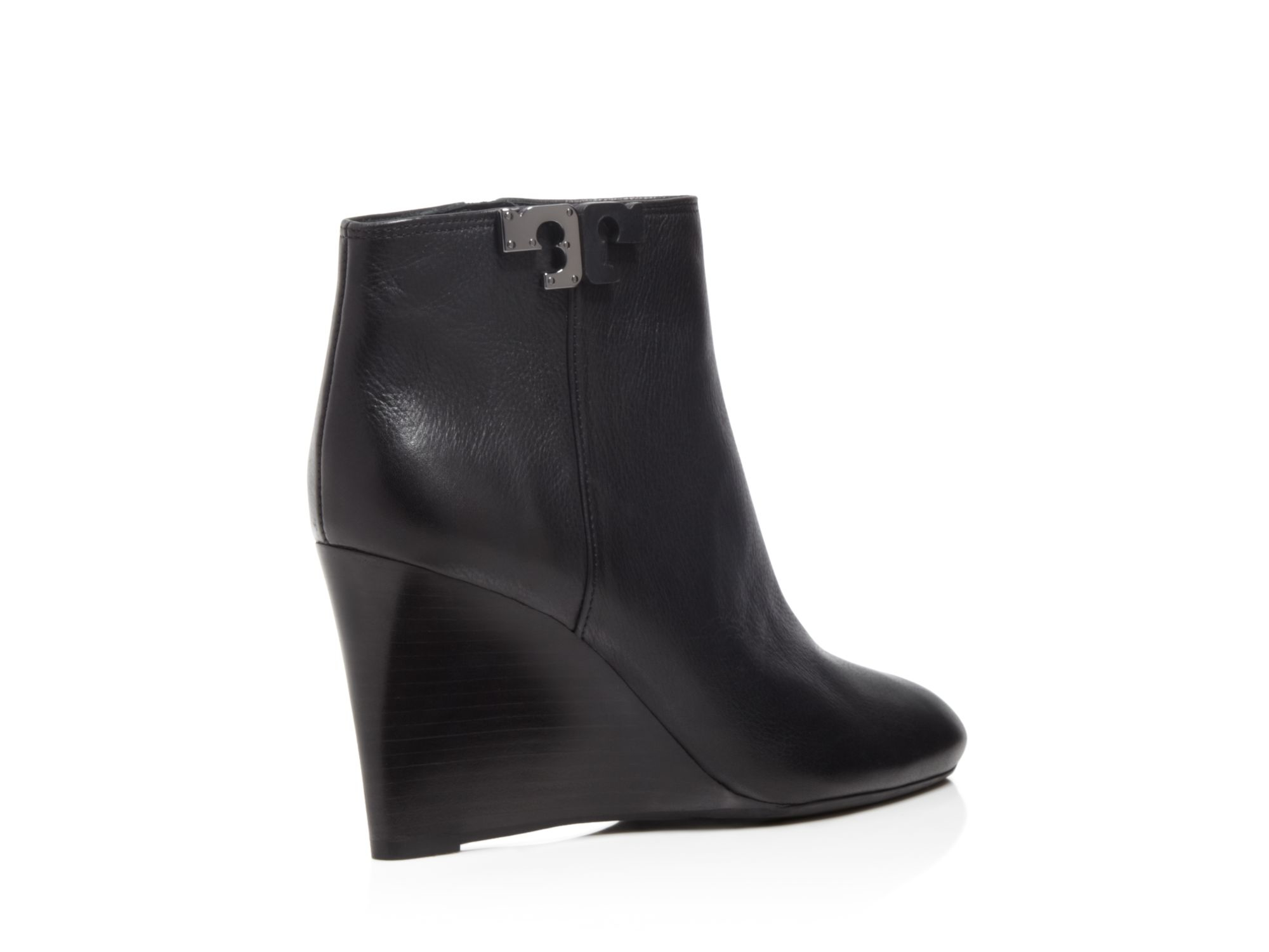3875f5b10bae28 Lyst - Tory Burch Lowell Wedge Booties in Black
