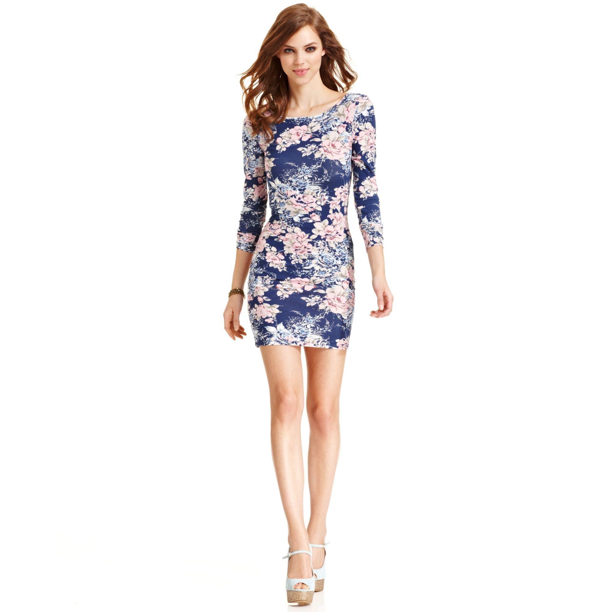 floral dress guess