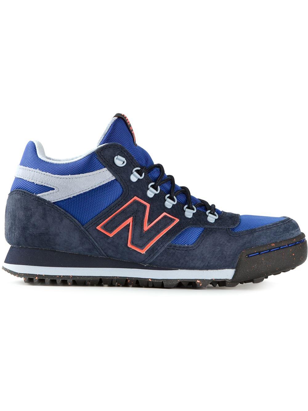 lyst new balance 39 h710 39 hi top sneakers in blue for men. Black Bedroom Furniture Sets. Home Design Ideas