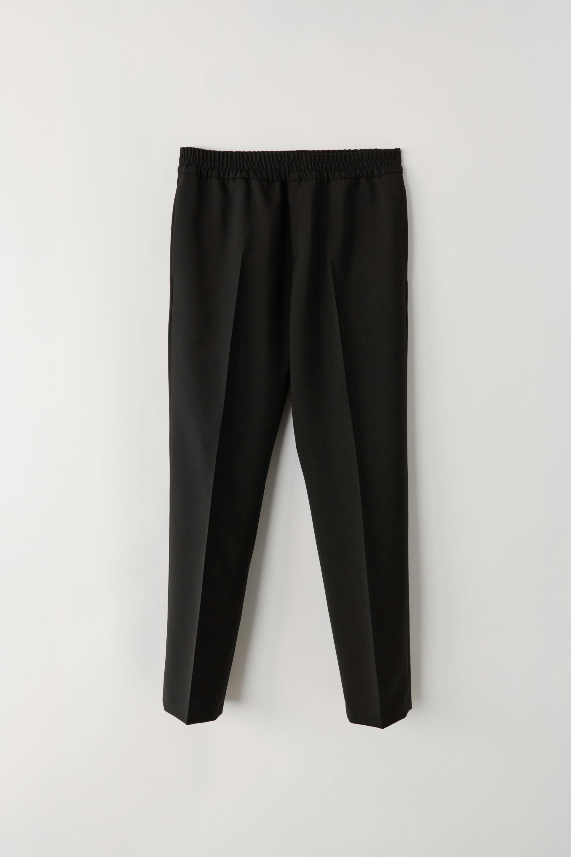 619734c4cd25 Acne Studios Ryder L Wo Mh Black Elastic Waist Trousers in Black for ...
