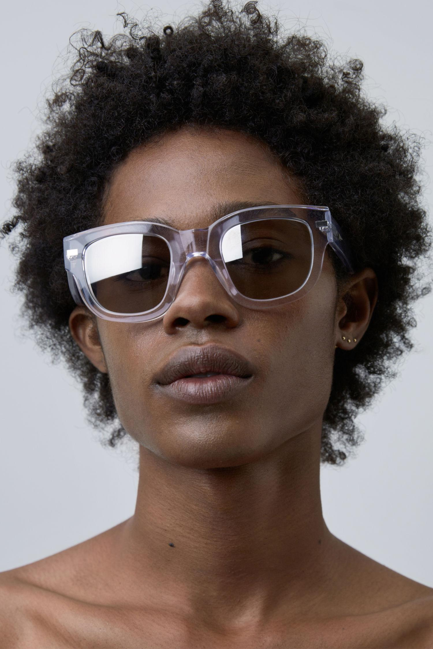 d3d596e938c9c Acne Studios Square Frame Eyewear clear silver Mirror in Metallic - Lyst