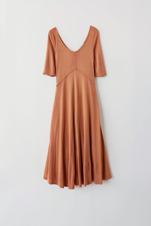 0ebc5f6b45e1 Acne Studios Fn-wn-dres000163 Rusty Peach Jersey Dress in Brown - Lyst