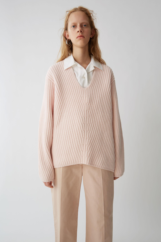 Acne Studios Deka Clean Light Pink Sweater Dress in Pink - Lyst 2d4144ee0