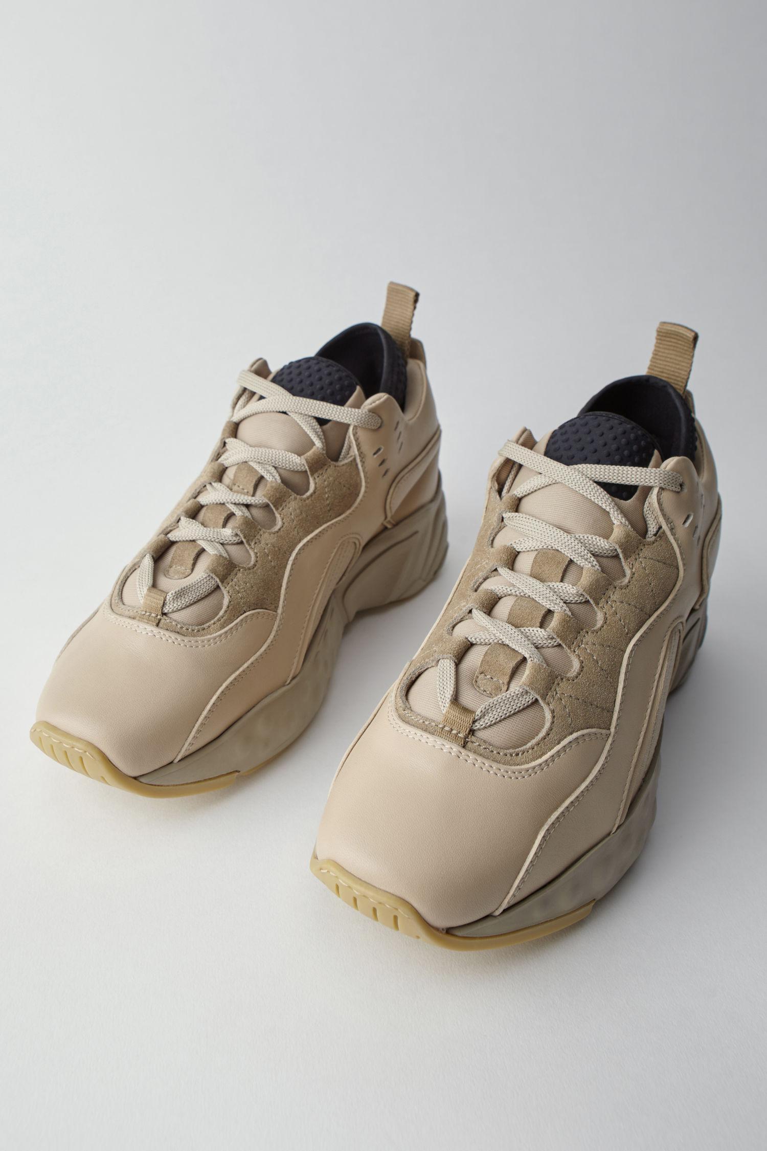 Natural Sneakers Studios Beige Technical In Acne Multi Lyst Av0TPP