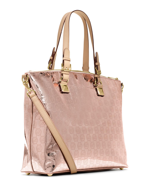 michael kors michael jet set item multifunction satchel in pink rose. Black Bedroom Furniture Sets. Home Design Ideas