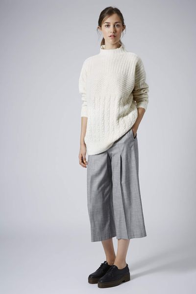 Sweater High Neck High Neck Cable Sweater in