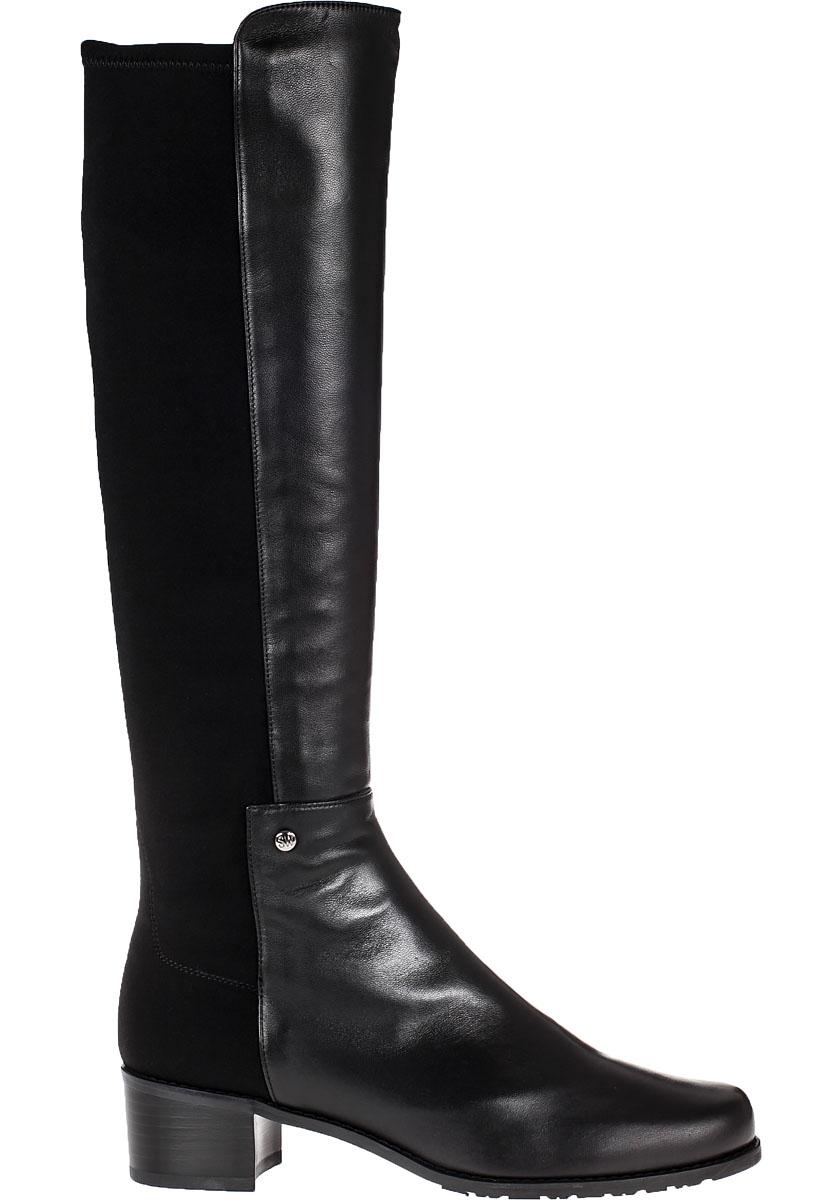 Stuart weitzman Mezzamezza Tall Boot Black Leather in Black   Lyst