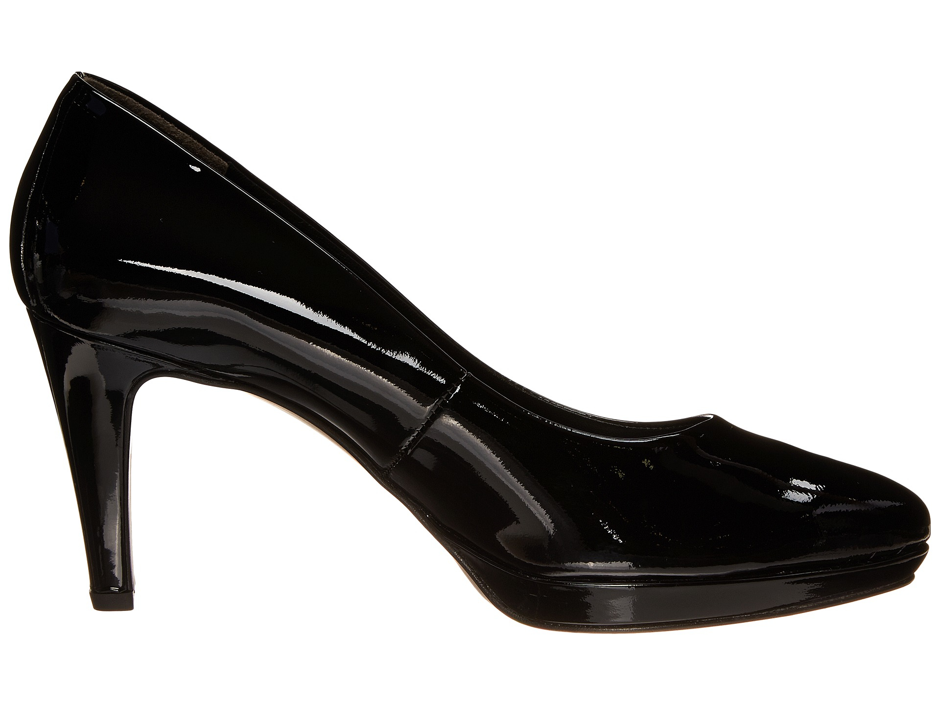 paul green ceylon patent leather pumps in black black patent lyst. Black Bedroom Furniture Sets. Home Design Ideas