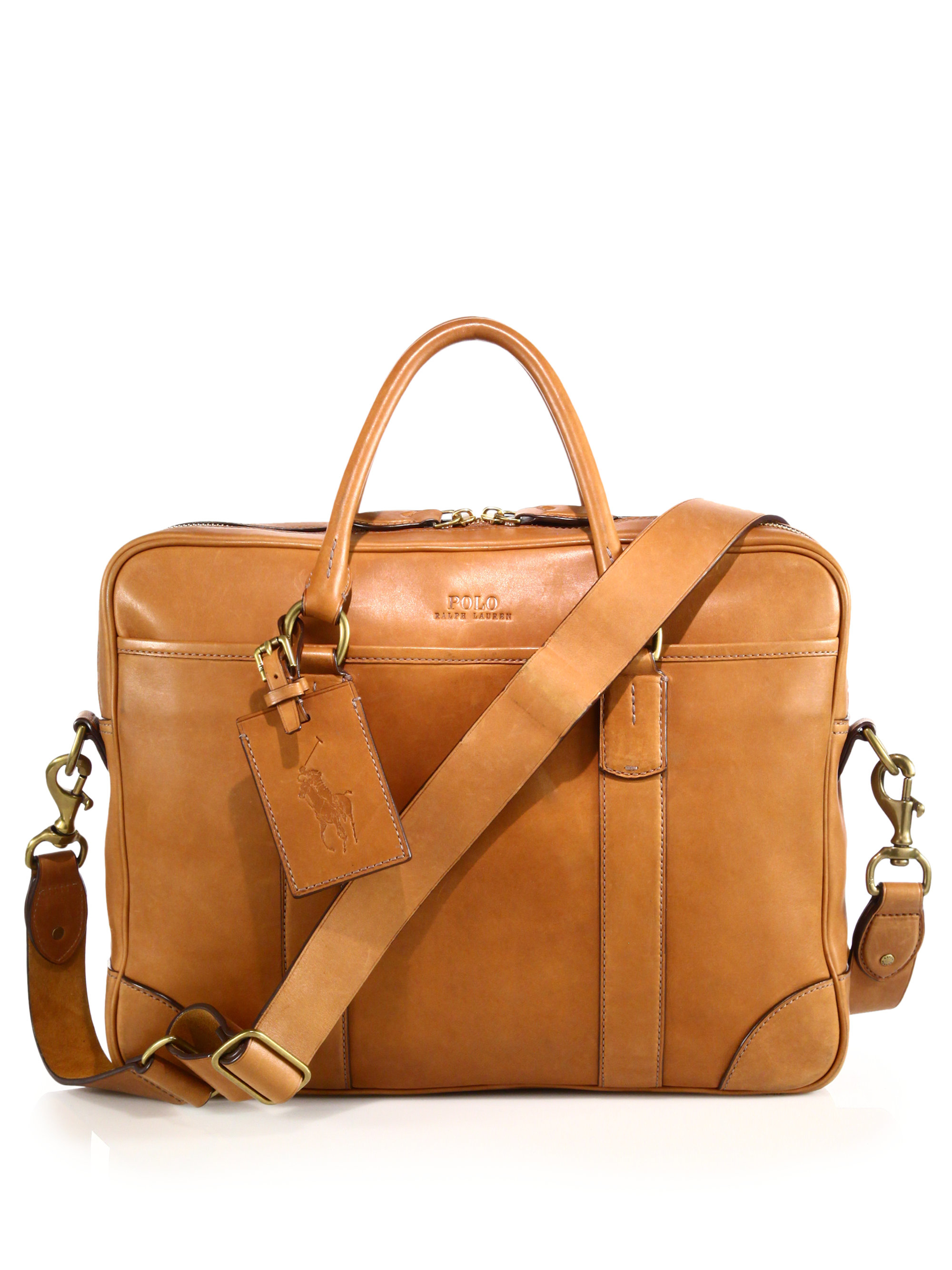 0630cc266ff4 Lyst - Polo Ralph Lauren Leather Commuter Bag in Brown for Men