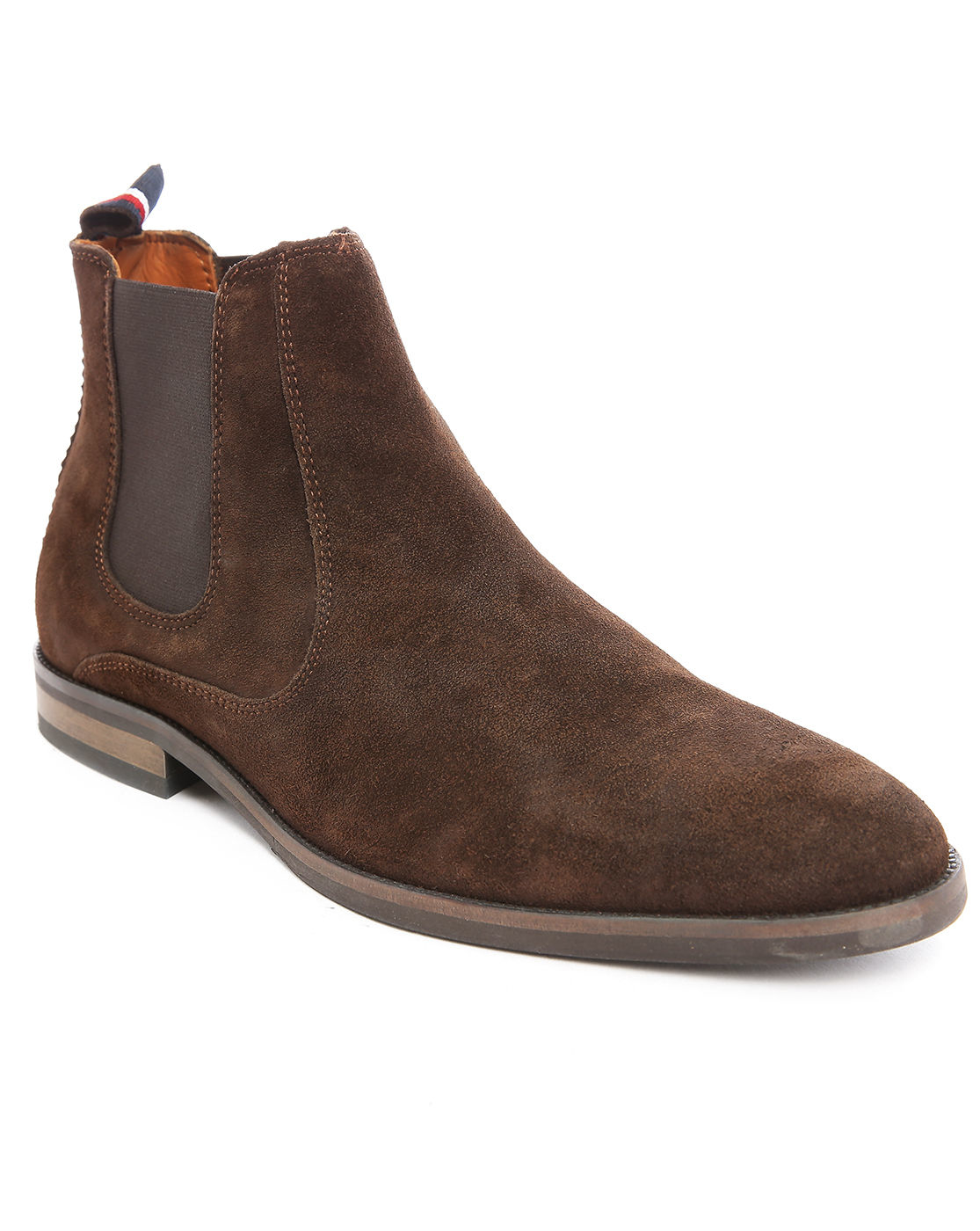 tommy hilfiger dalton 18b suede chelsea boots in brown for men lyst. Black Bedroom Furniture Sets. Home Design Ideas