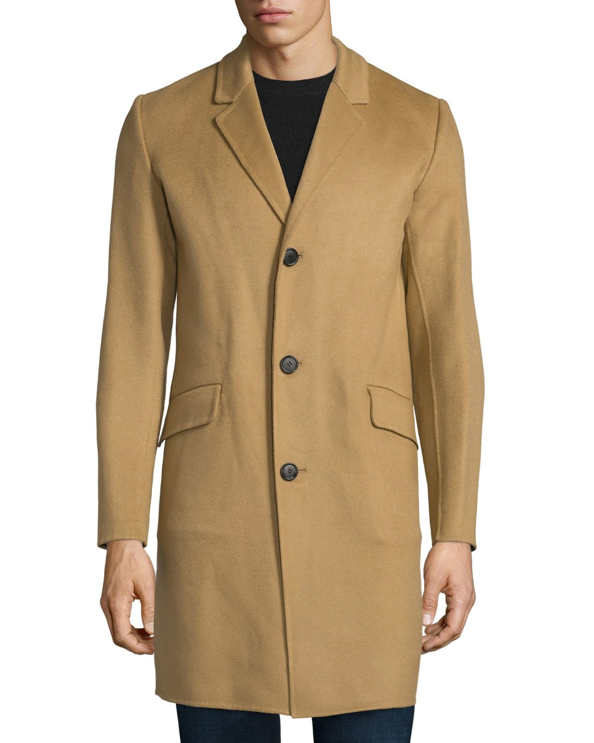 Theory Whyte Reish Button-down Cashmere Coat in Natural for Men | Lyst