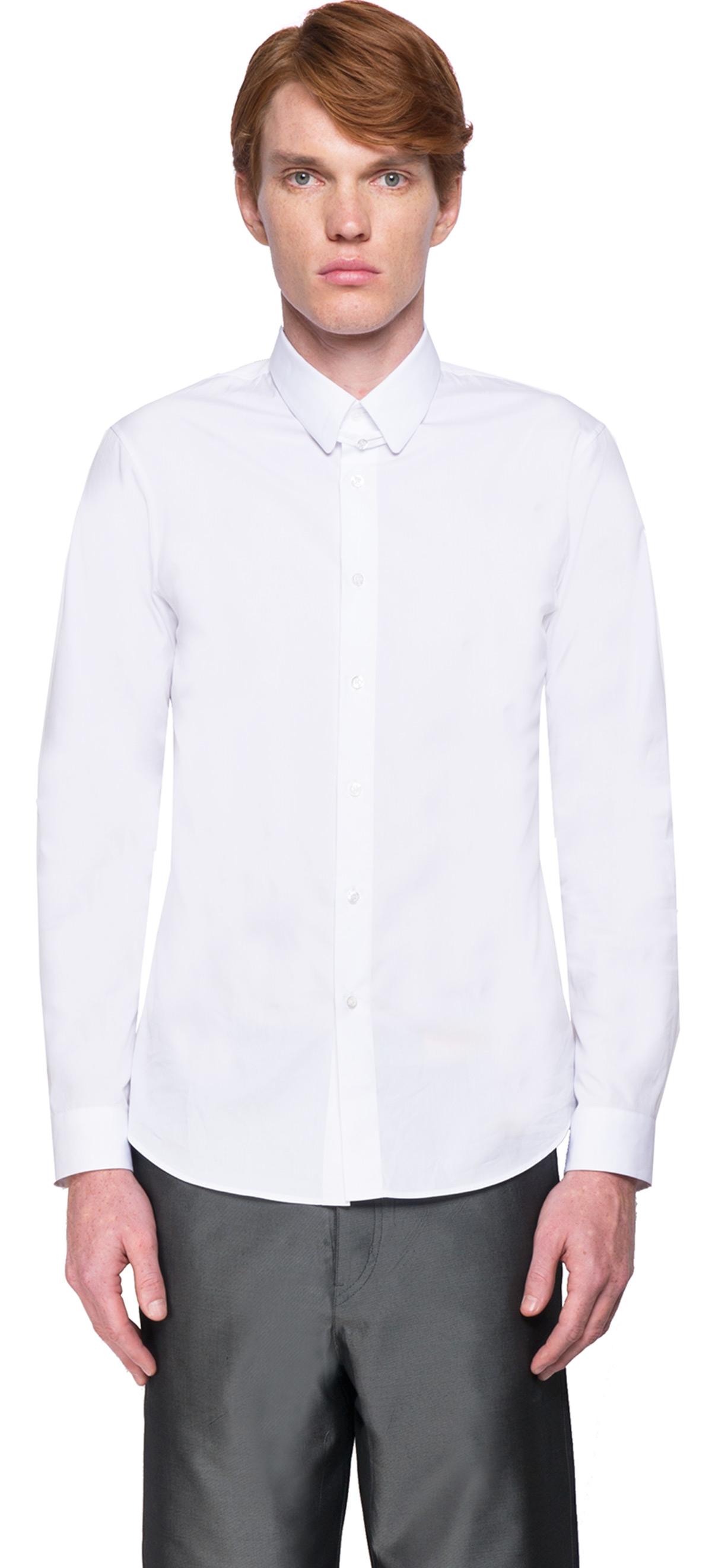 Jil sander classic shirt in white for men lyst for Jil sander mens shirt