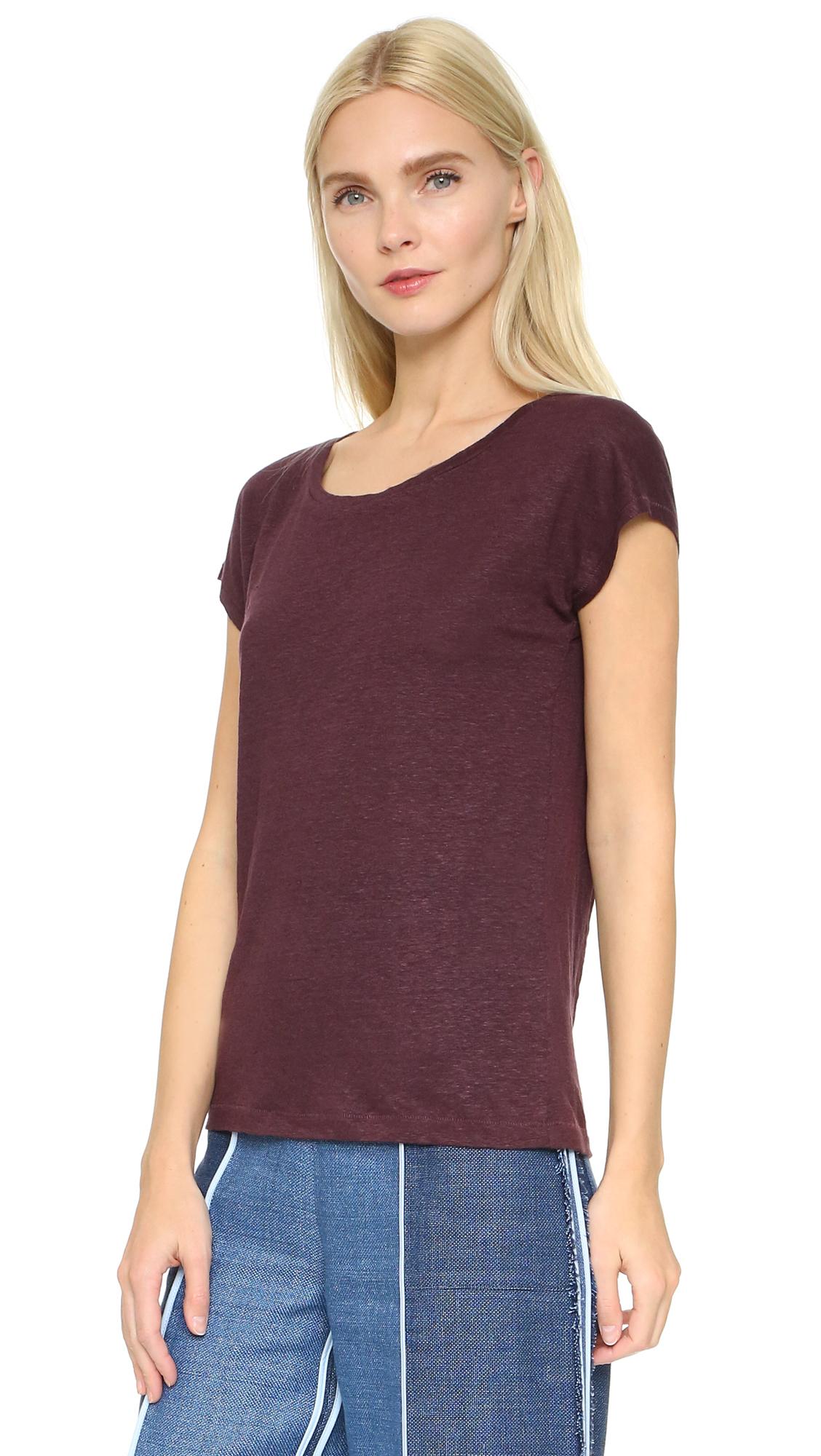 Lyst Acne Studios Narda Linen T Shirt In Purple