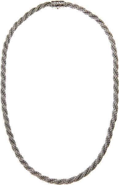 John Hardy Small Silver Twist Chain Necklace 18l in Silver for Men (null) - Lyst