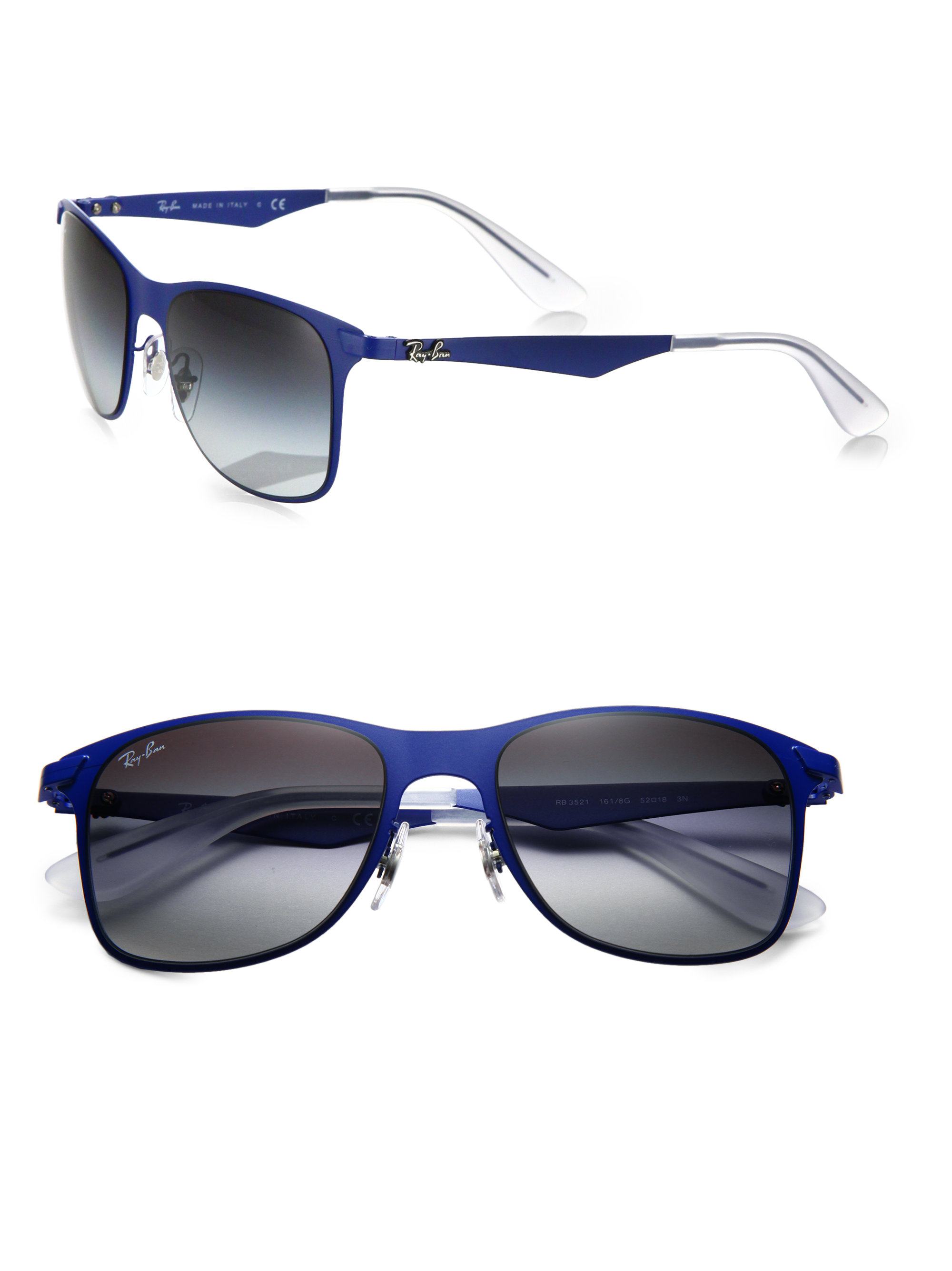 4547450c9f4 ... inexpensive lyst ray ban wayfarer 52mm flat metal sunglasses black in  blue for men e05fc ba0d8