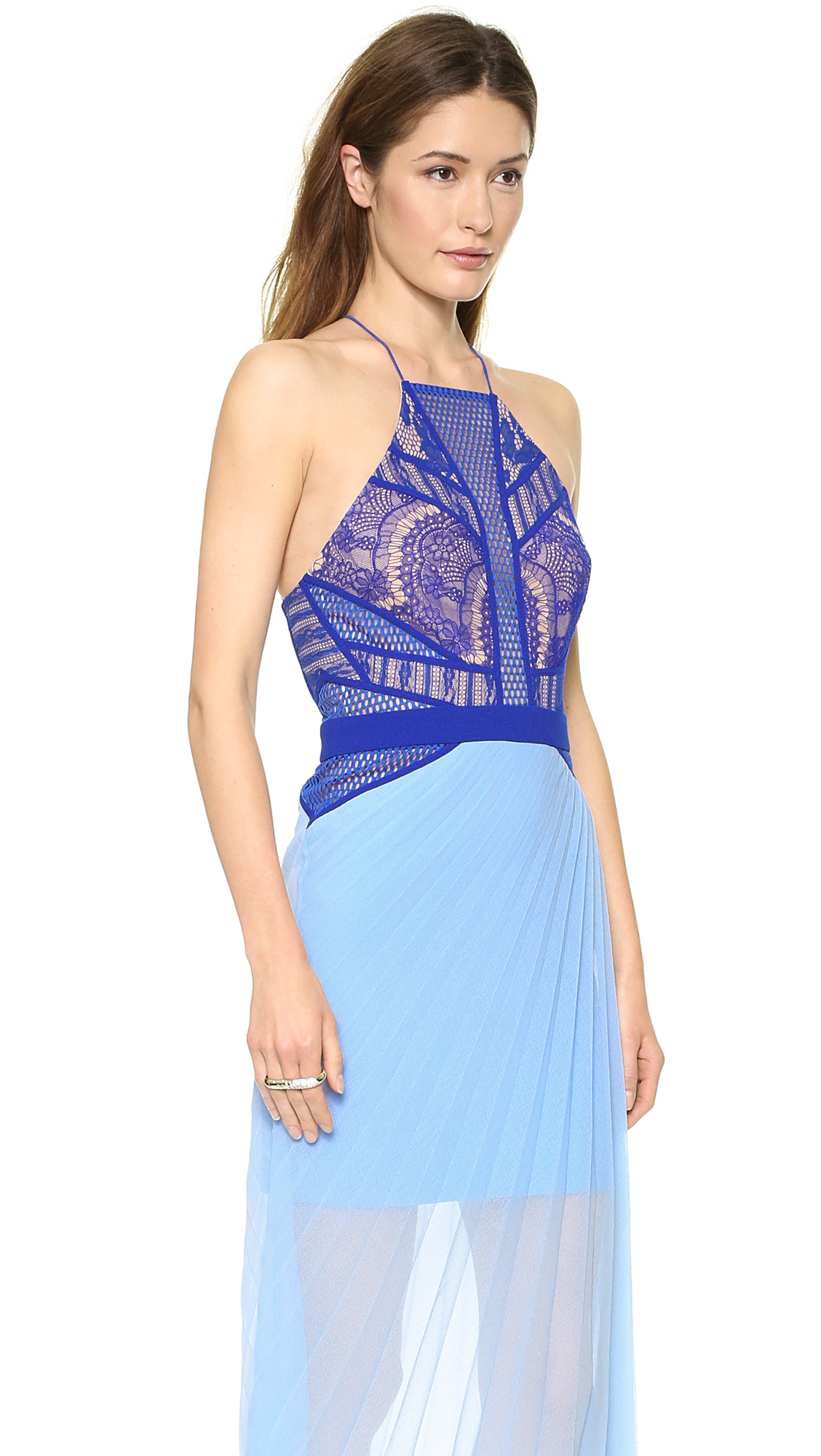 Lyst - Three Floor Fan Club Dress - Cobalt/Cornflower/Nude in Blue
