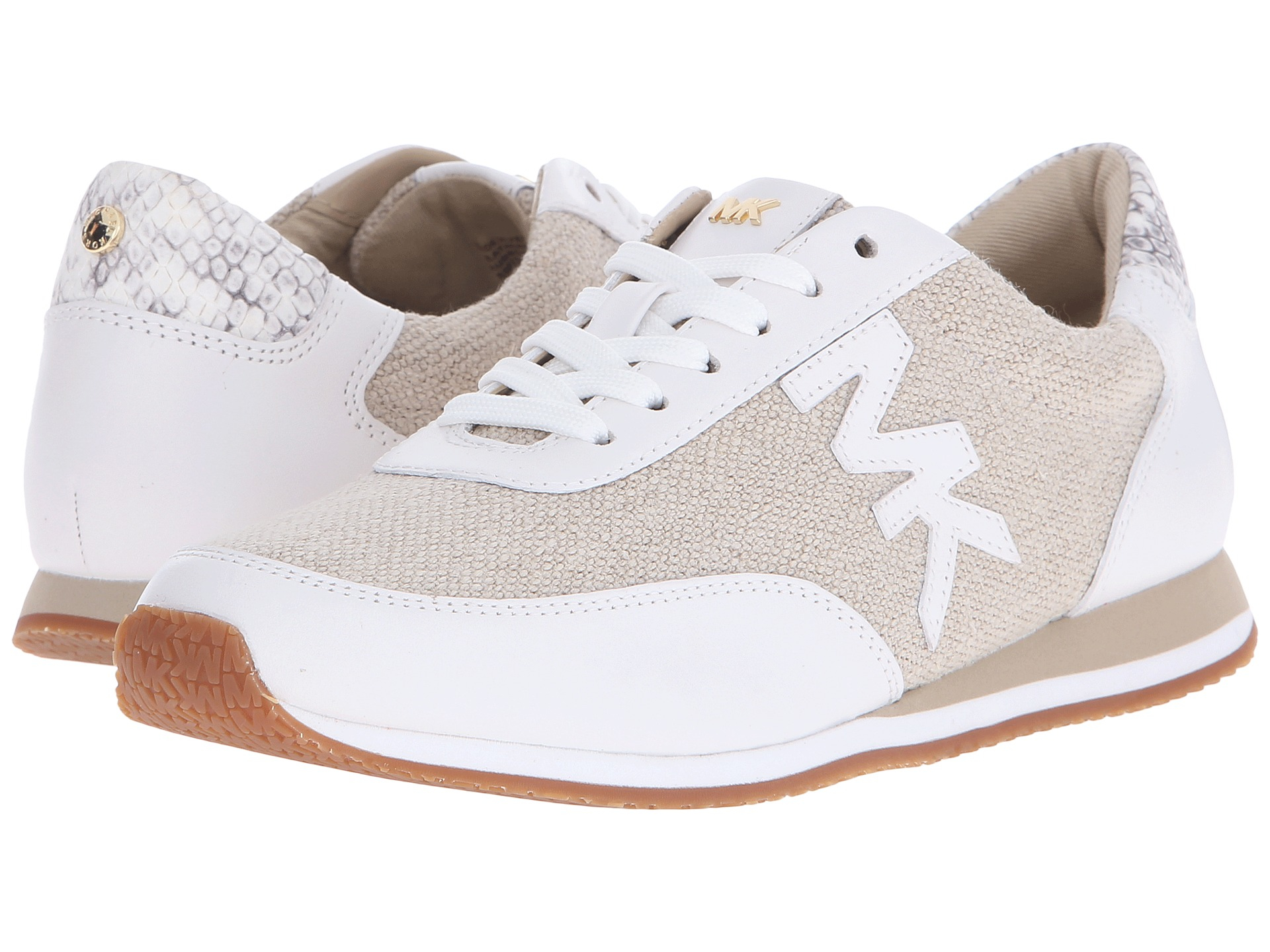 37d09e162848 Lyst - MICHAEL Michael Kors Stanton Trainer in Natural