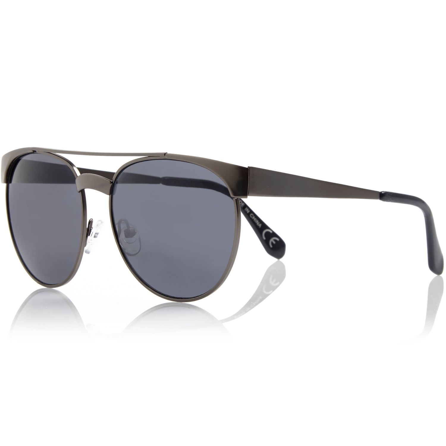 gallery mens round sunglasses