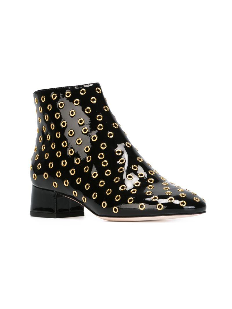 RED Valentino Pearl-embellished ankle boots Livraison Gratuite Bon Marché Nouvelle Et De La Mode x8dj7