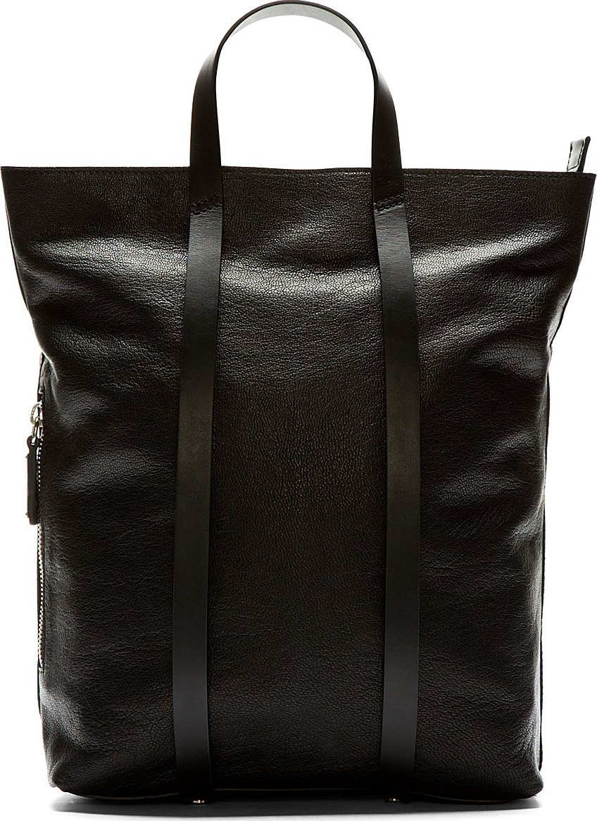 Lyst Costume National Black Leather Tote Backpack In