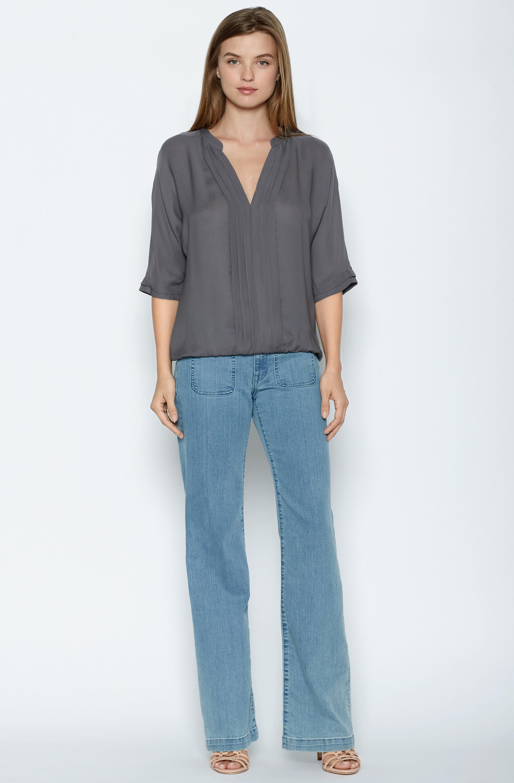 26ccceee079381 Lyst - Joie Marru Silk Top in Gray