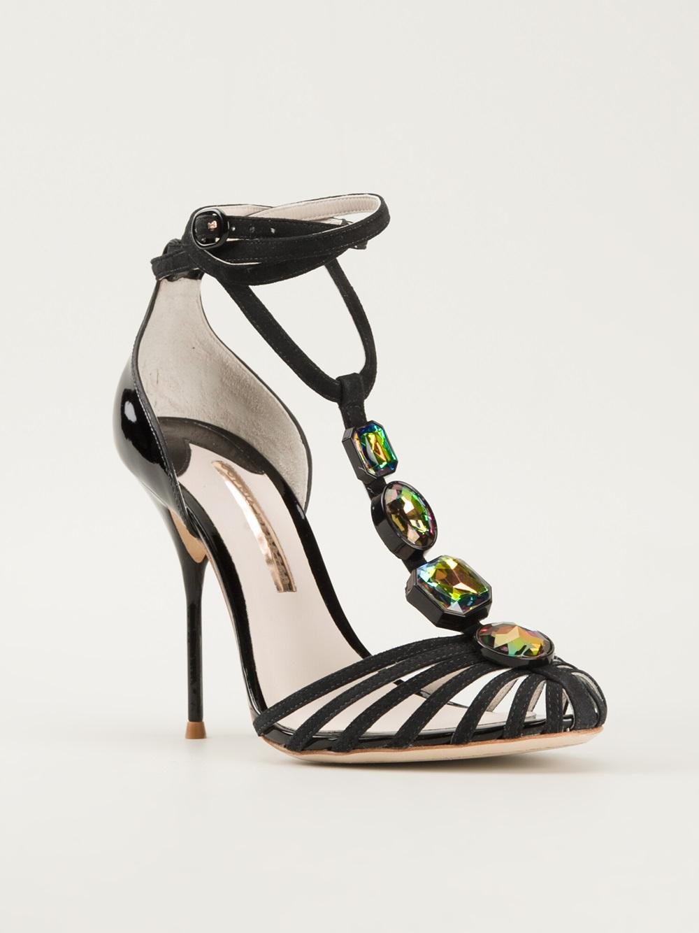 Sophia Webster Jewel Sandals In Black Lyst