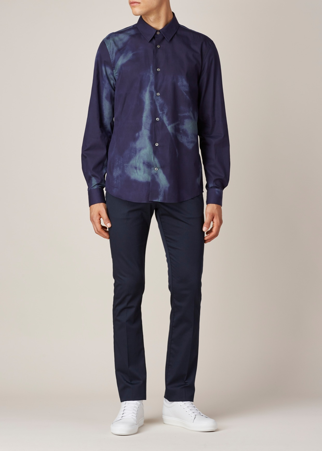 Acne Studios Purple Teal Green Jill Print Button Up In