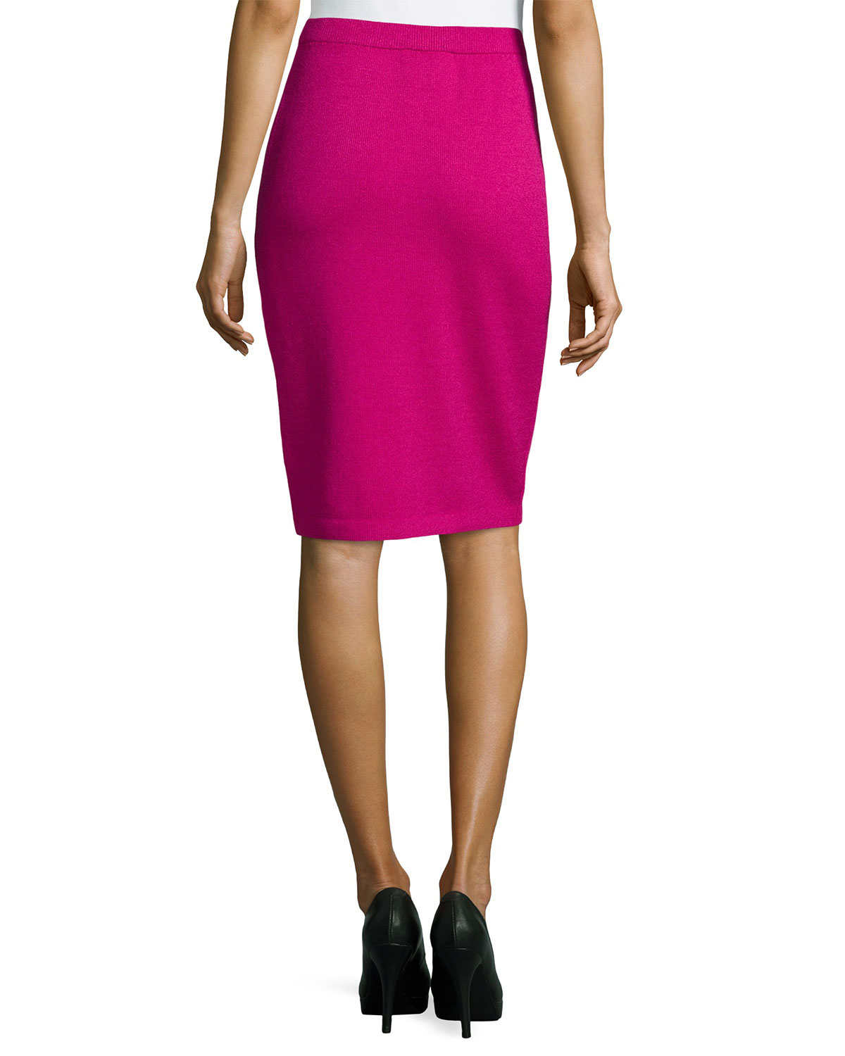 st pull on knit pencil skirt in pink lyst