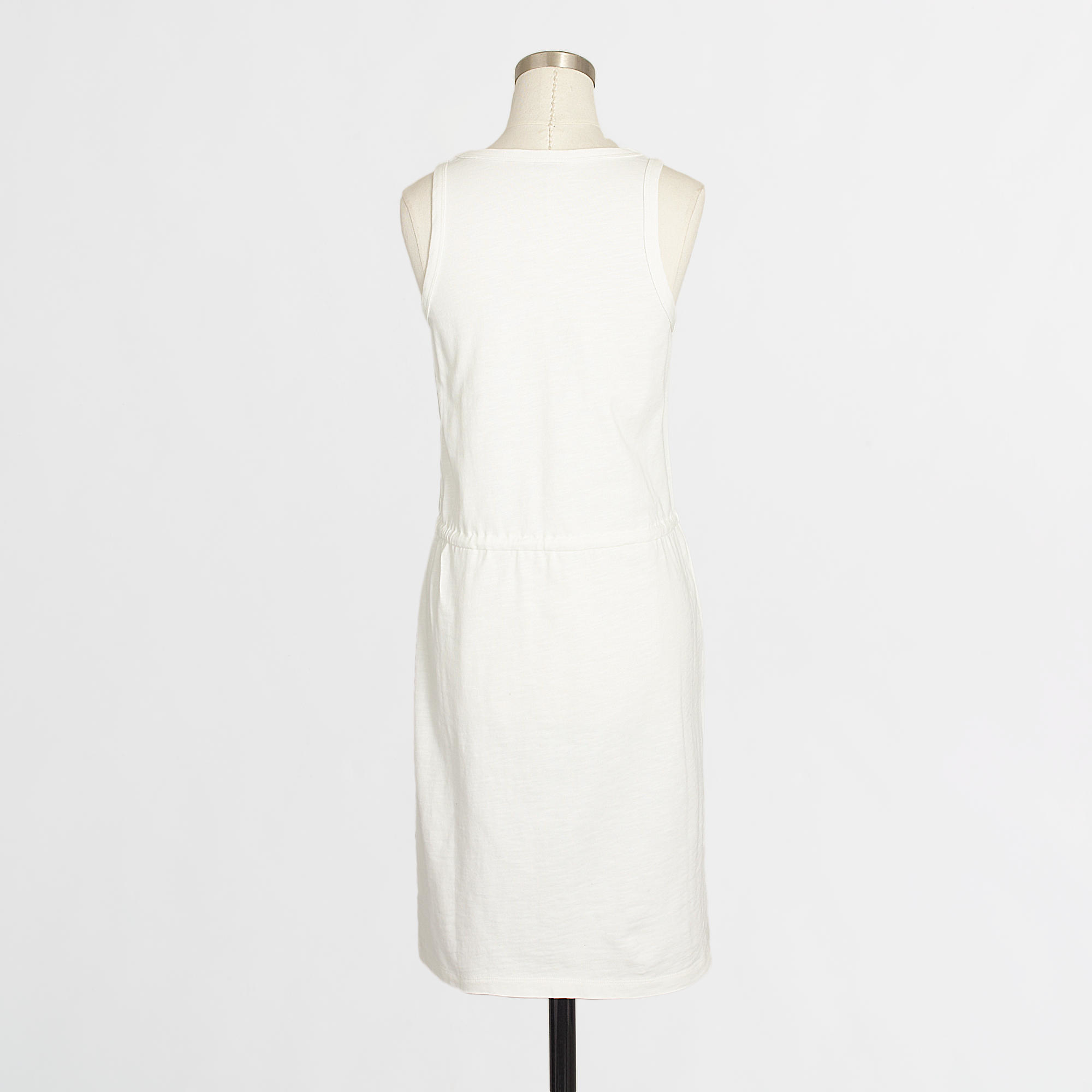 14a834456c65d Lyst - J.Crew Factory Drawstring Tank Dress in White
