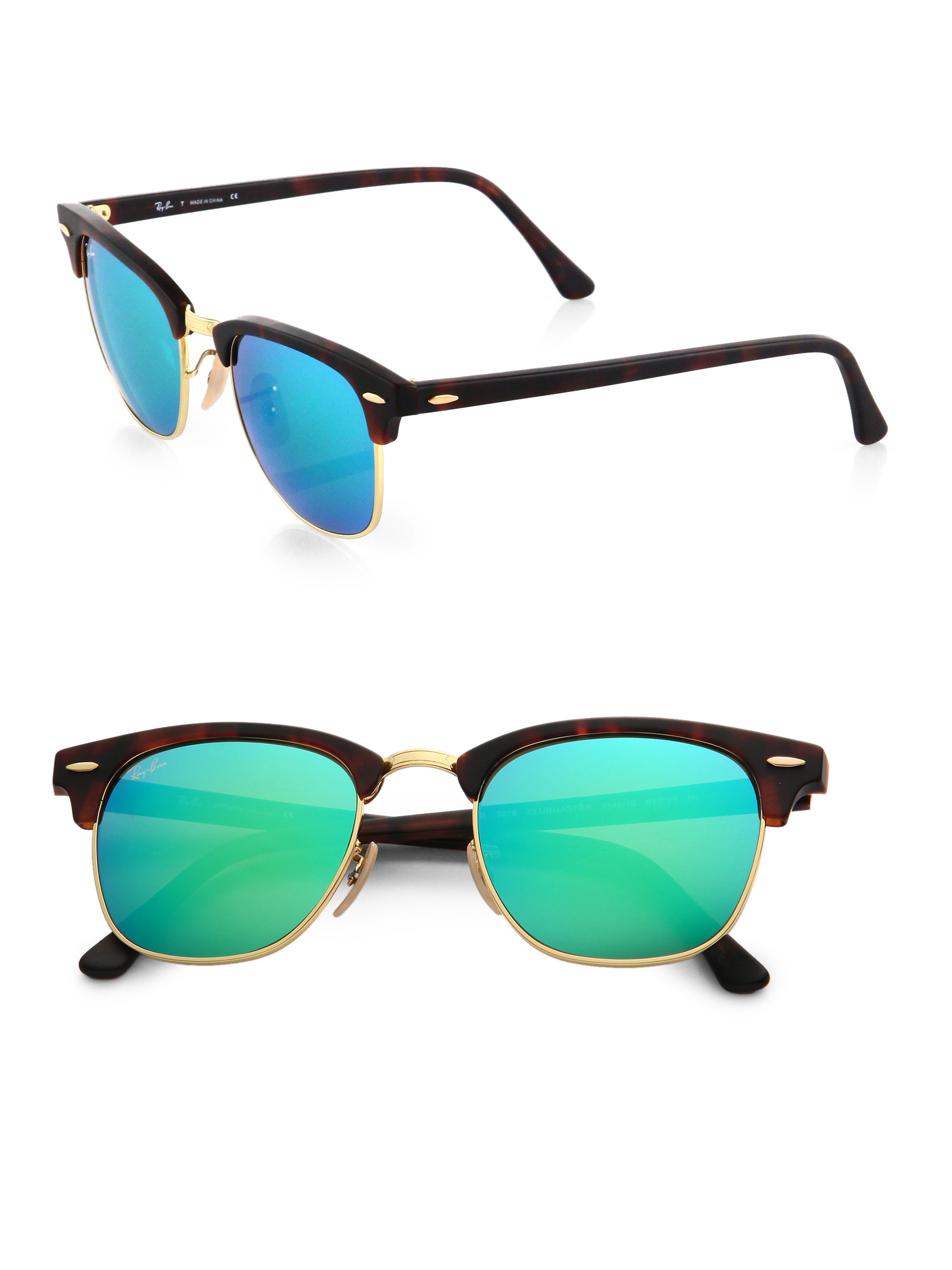 clubmaster sale  Ray-ban Clubmaster Flash Lens Sunglasses in Green