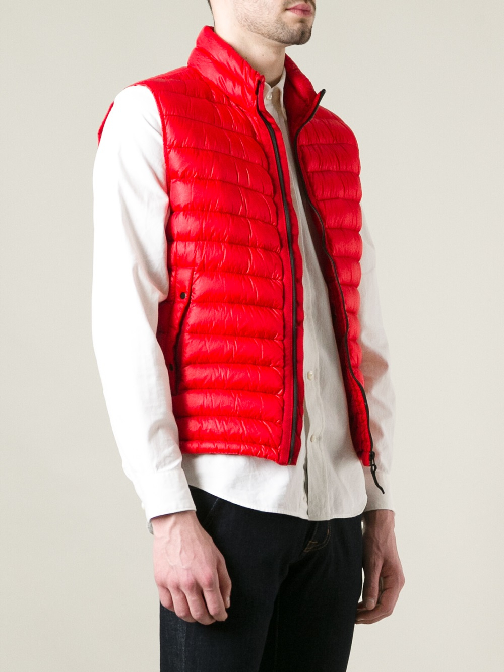Stone Island Padded Gilet In Red For Men Lyst
