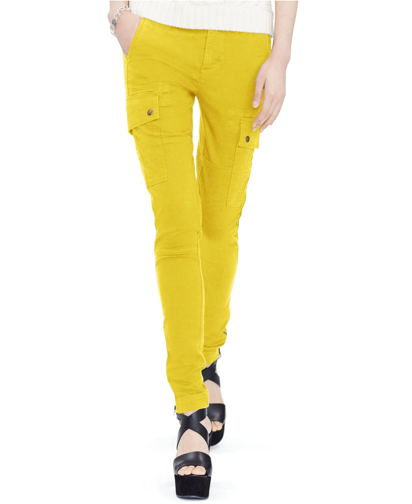 Polo ralph lauren Stretch-twill Cargo Pants in Yellow | Lyst