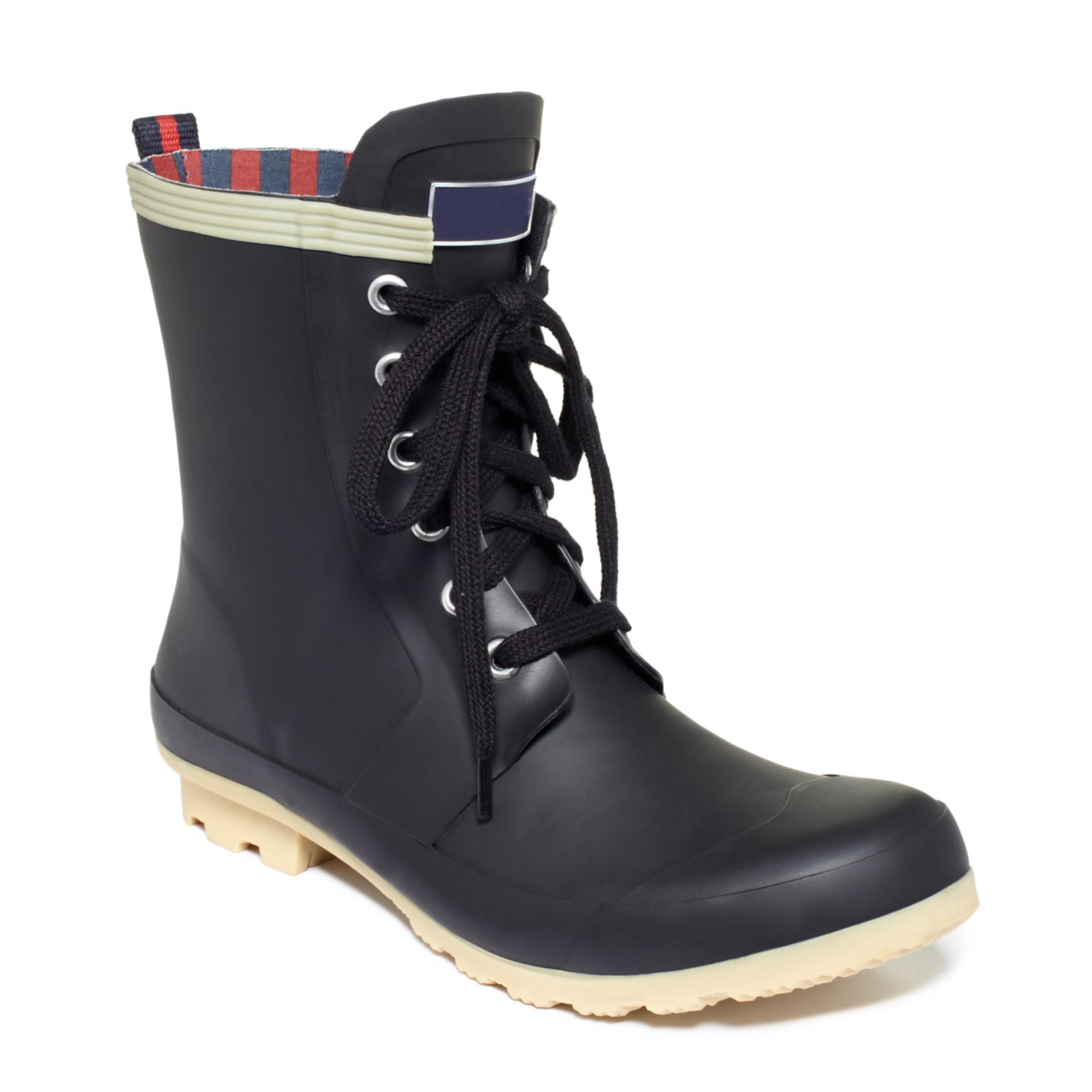 tommy hilfiger renegade rain booties in black lyst. Black Bedroom Furniture Sets. Home Design Ideas