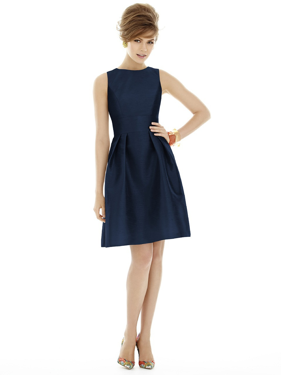 Alfred sung d bridesmaid dress in midnight in blue save 13 lyst alfred sung womens blue d bridesmaid dress in midnight ombrellifo Gallery