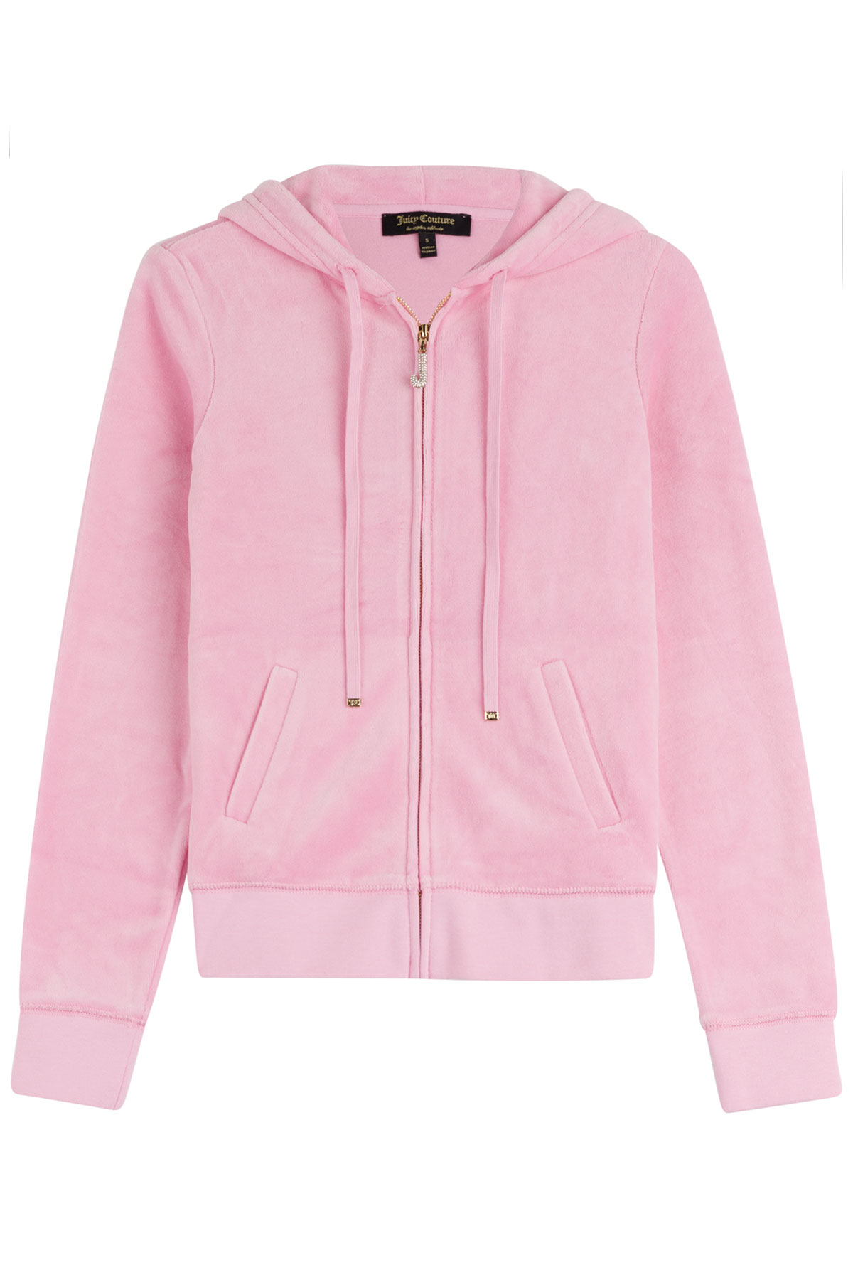 e0af80f1bf Lyst - Juicy Couture J Bling Velour Hoodie - Rose in Pink