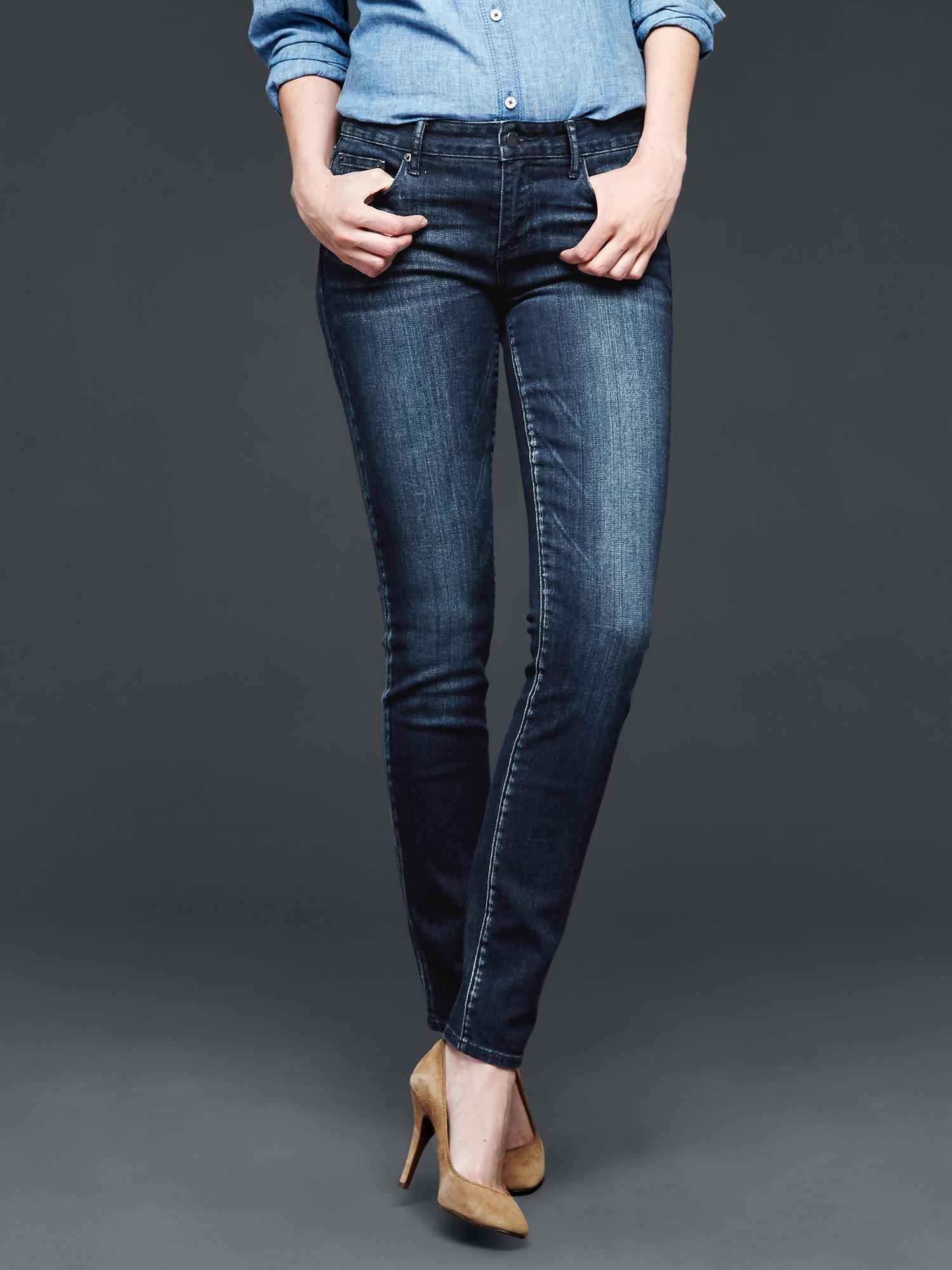 Gap 1969 Deep Indigo Always Skinny Jeans In Blue Dark