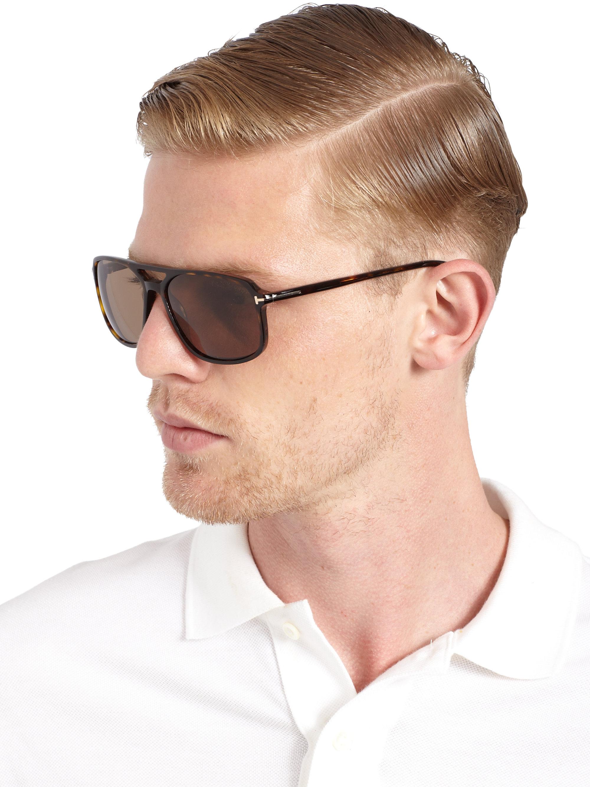 Lyst Tom Ford Flynn 58mm Acetate Sunglasses In Black For Men