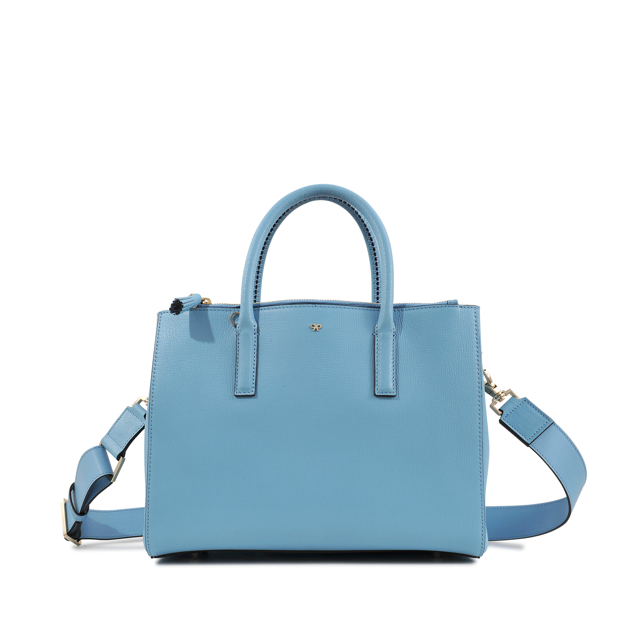 8c0049ed8c Anya Hindmarch Ebury Soft Small Smiley Bag in Blue - Lyst