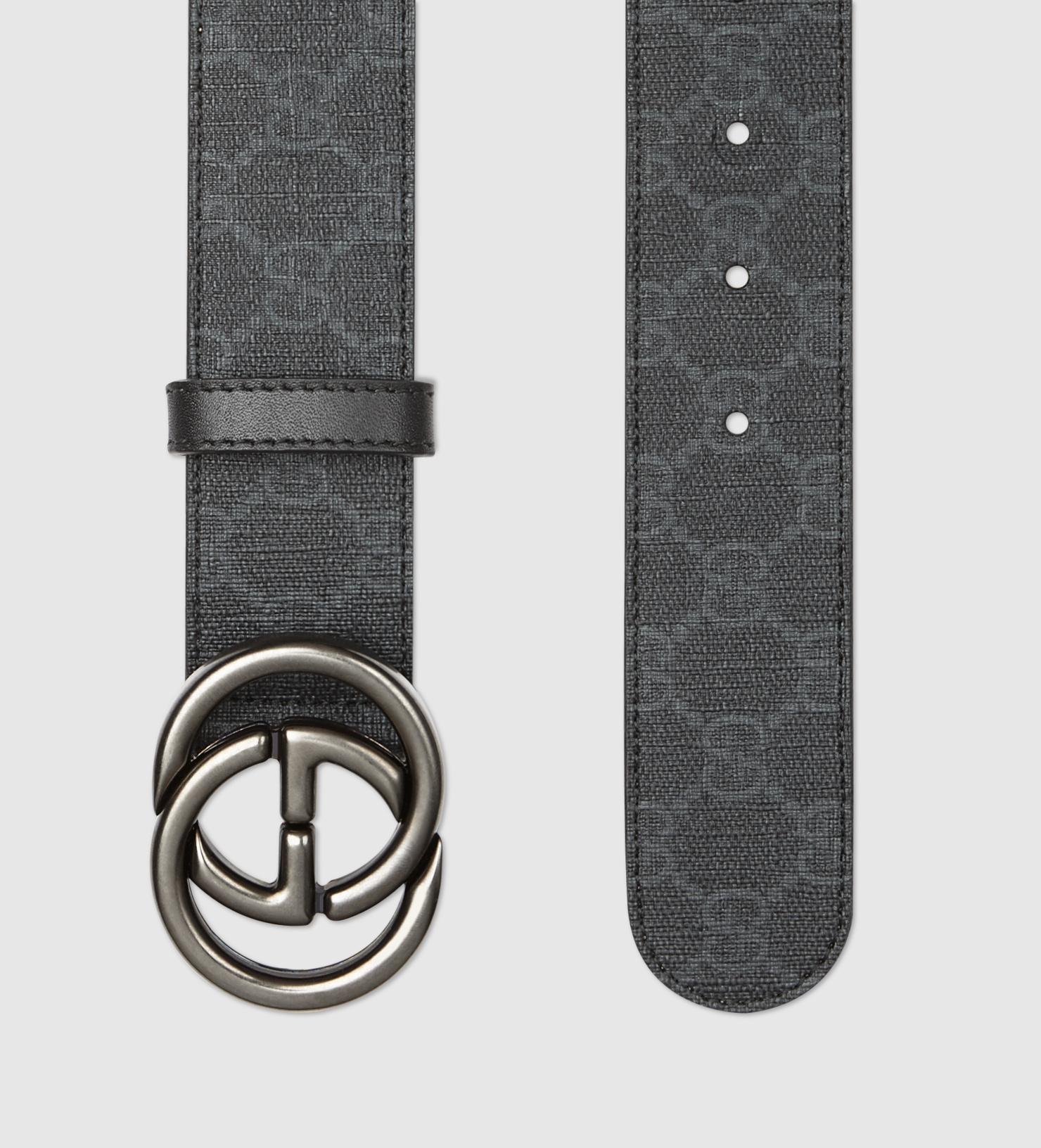 e9706f522d13 Lyst - Gucci Gg Supreme Canvas Belt With Interlocking G Buckle in ...