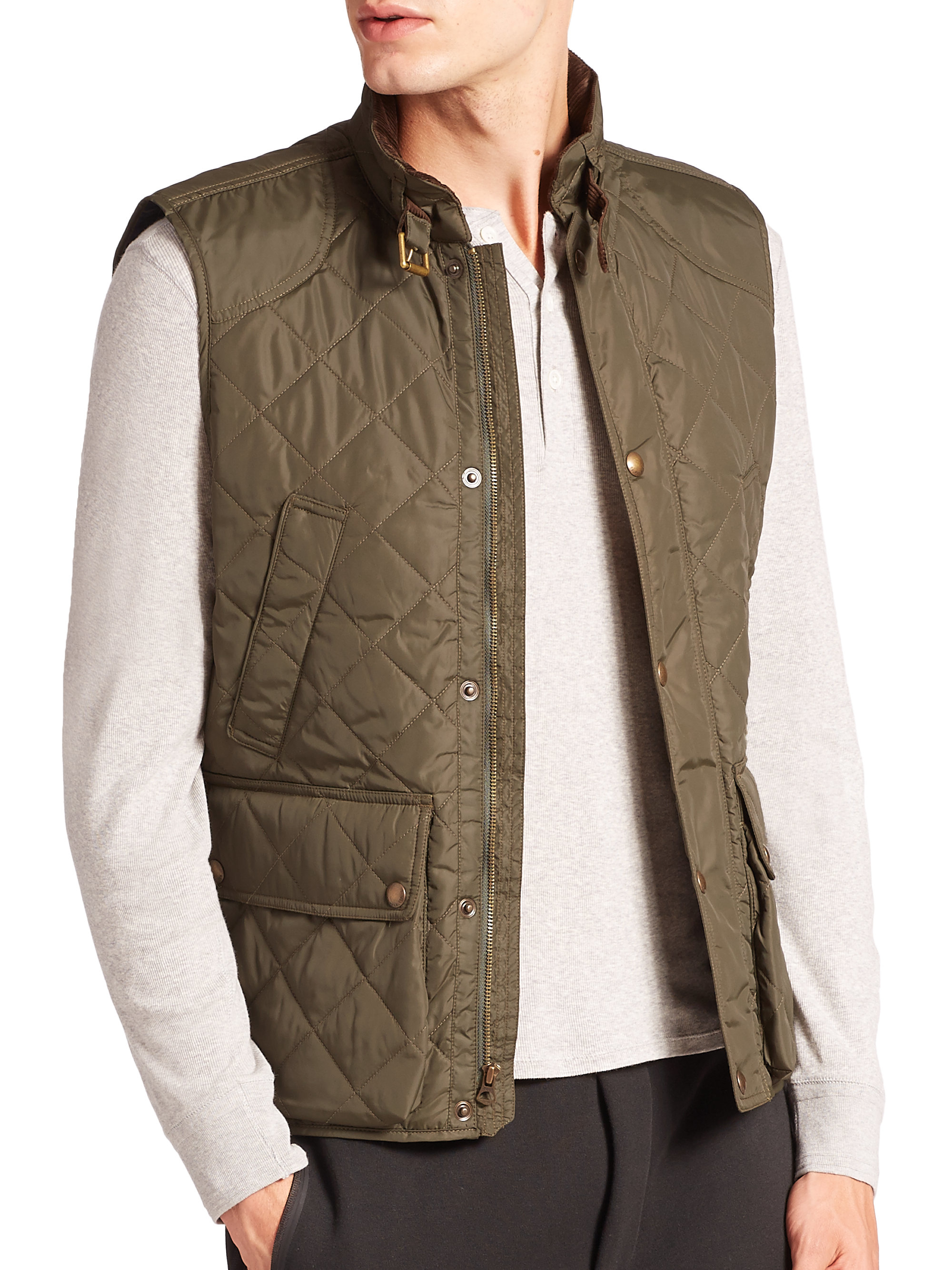 Polo ralph lauren Southbury Quilted Vest in Green for Men | Lyst : ralph lauren quilted vest mens - Adamdwight.com