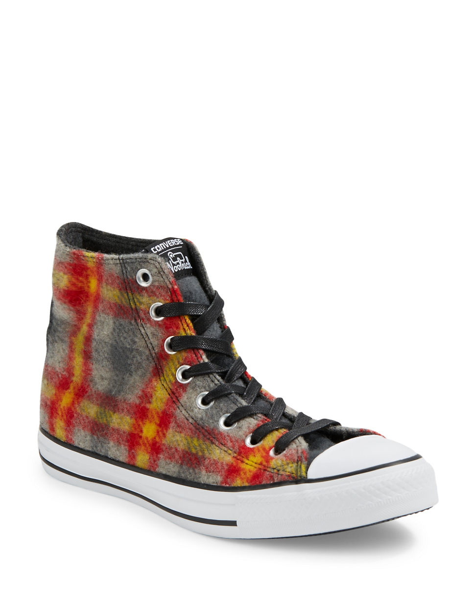 lyst converse unisex plaid high top sneakers for men. Black Bedroom Furniture Sets. Home Design Ideas