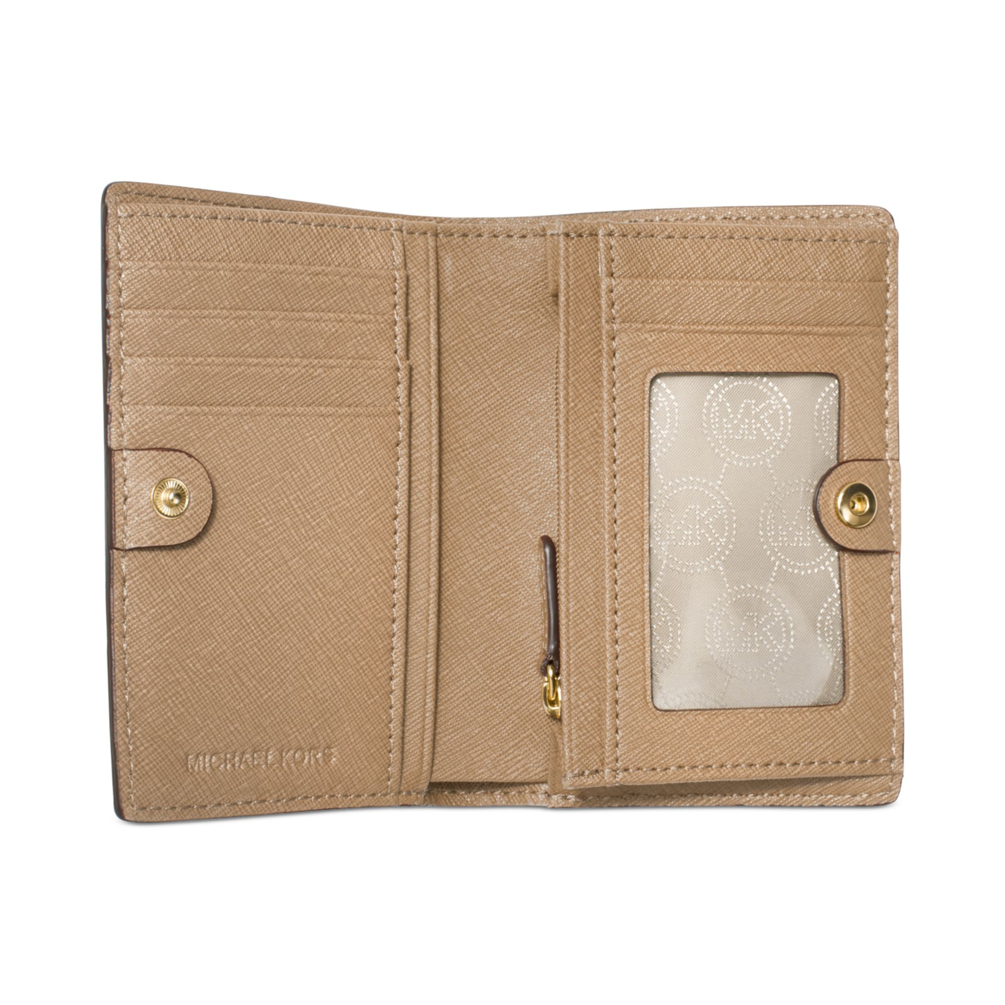 d2f6096b4041 ... ireland lyst michael kors michael jet set travel medium slim wallet in  natural 786dd 5281c ...