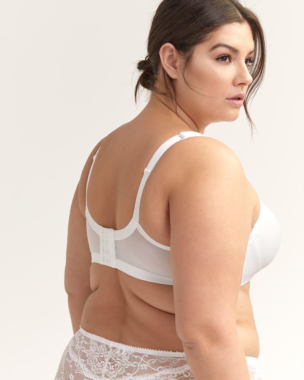 31fab570e Lyst - Addition Elle Jacquard Padded Wirefree Bra With Lace - Ti Voglio in  White