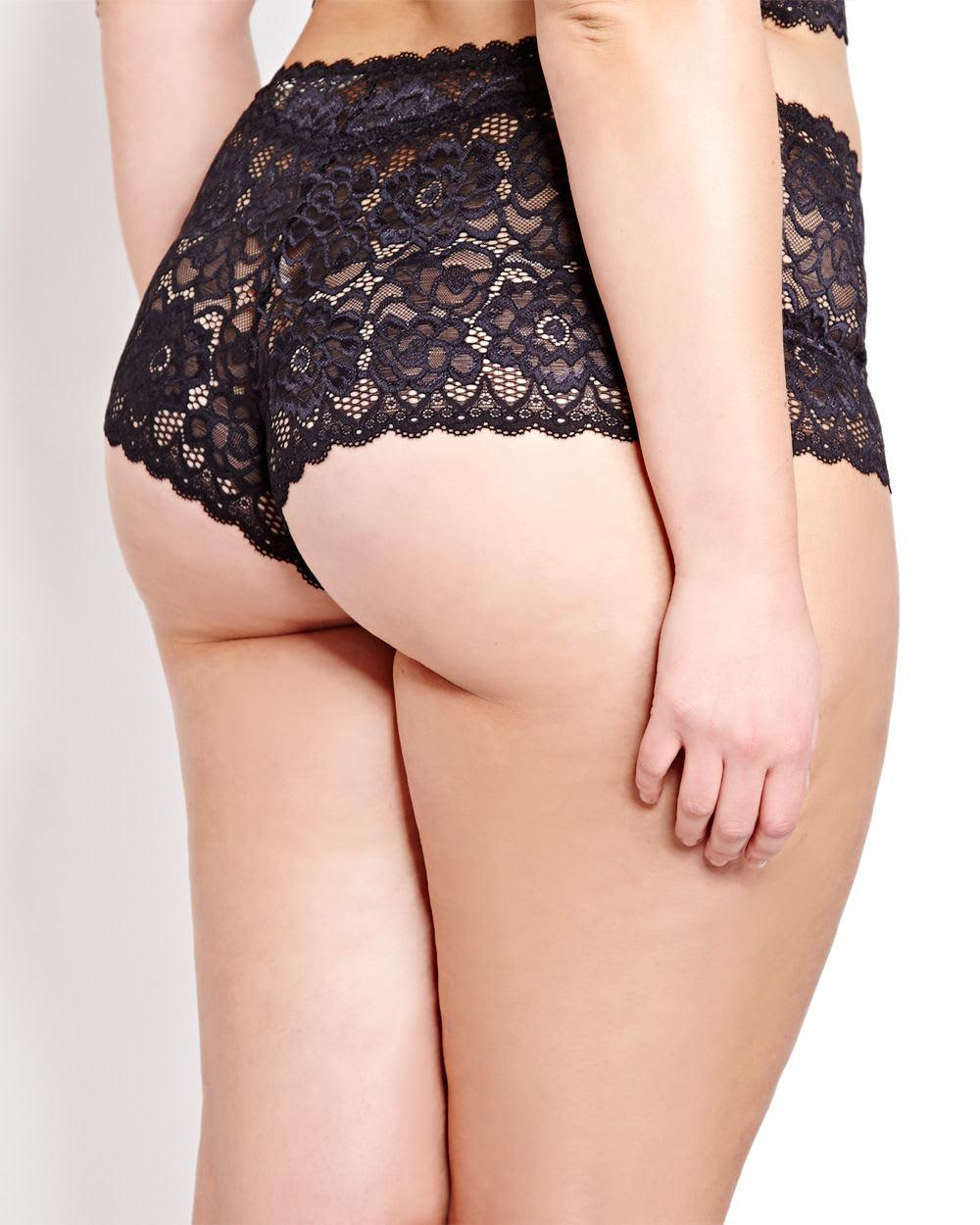 74bcbee15f0 Lyst - Addition Elle Brazilian Lace Panty - Déesse Collection in Black