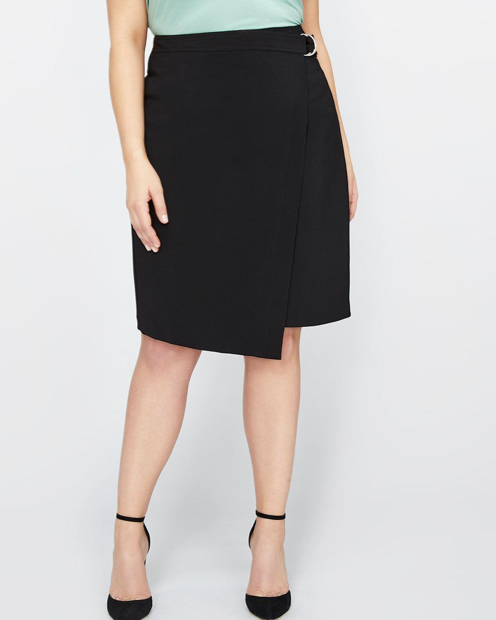 daae07cdf27 Lyst - Addition Elle Michel Studio Asymmetrical Pencil Skirt in Black