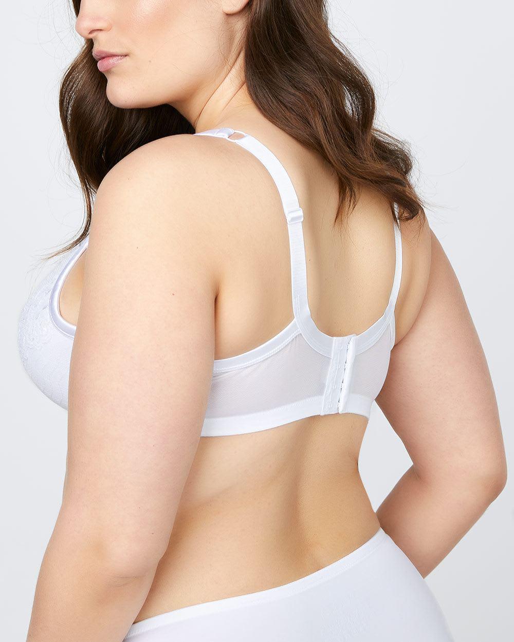 fbe7954017 Lyst - Addition Elle Plunge Bra With Lace Trim - Ti Voglio in White