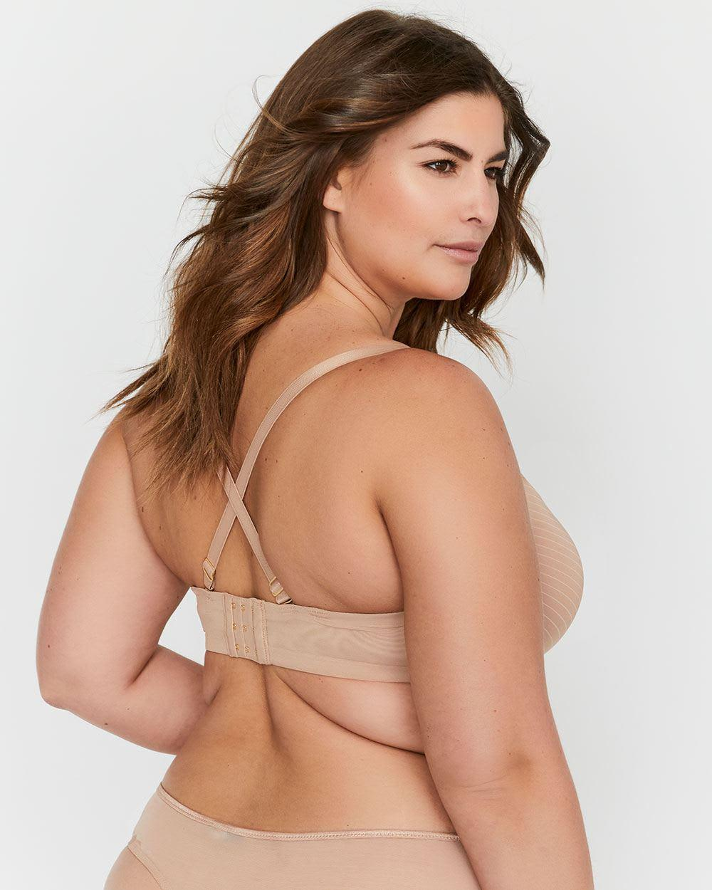 8d40faf15244d Lyst - Addition Elle Ashley Graham Lace And Striped Diva Demi Cup Bra -  Save 58%