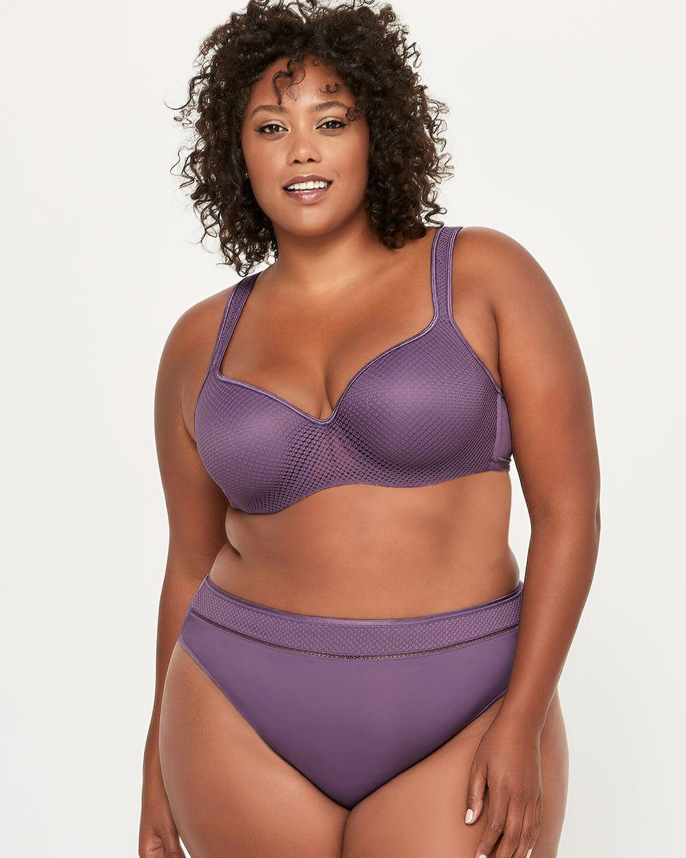f93502f3b48 Addition Elle. Women s Purple Printed Padded T-shirt Bra With Mesh - Ti  Voglio