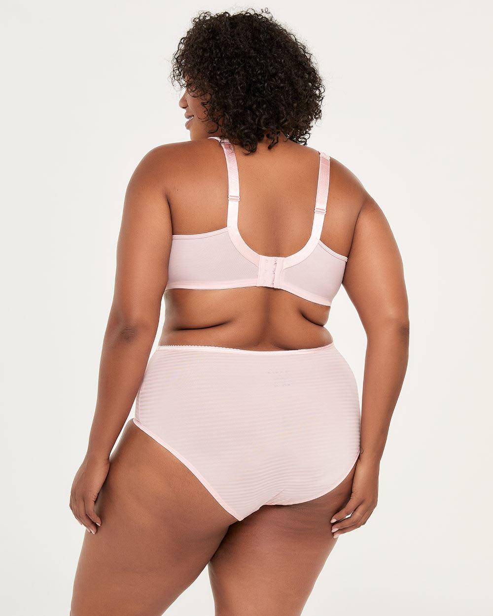 b3f0d911c43 Lyst - Addition Elle Striped Padded T-shirt Bra - Ti Voglio in Pink
