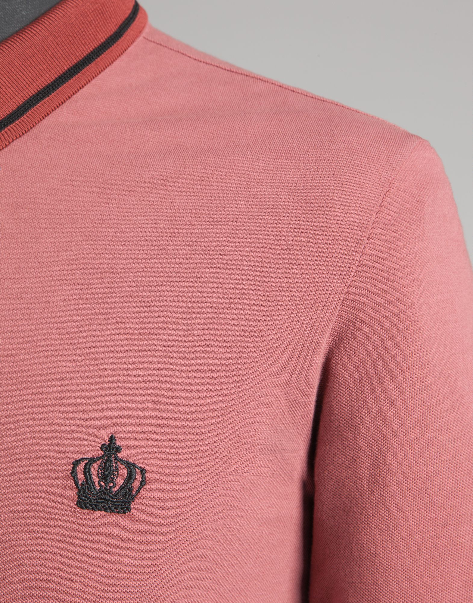 Dolce Gabbana Polo Shirt In Cotton Pique In Pink For Men